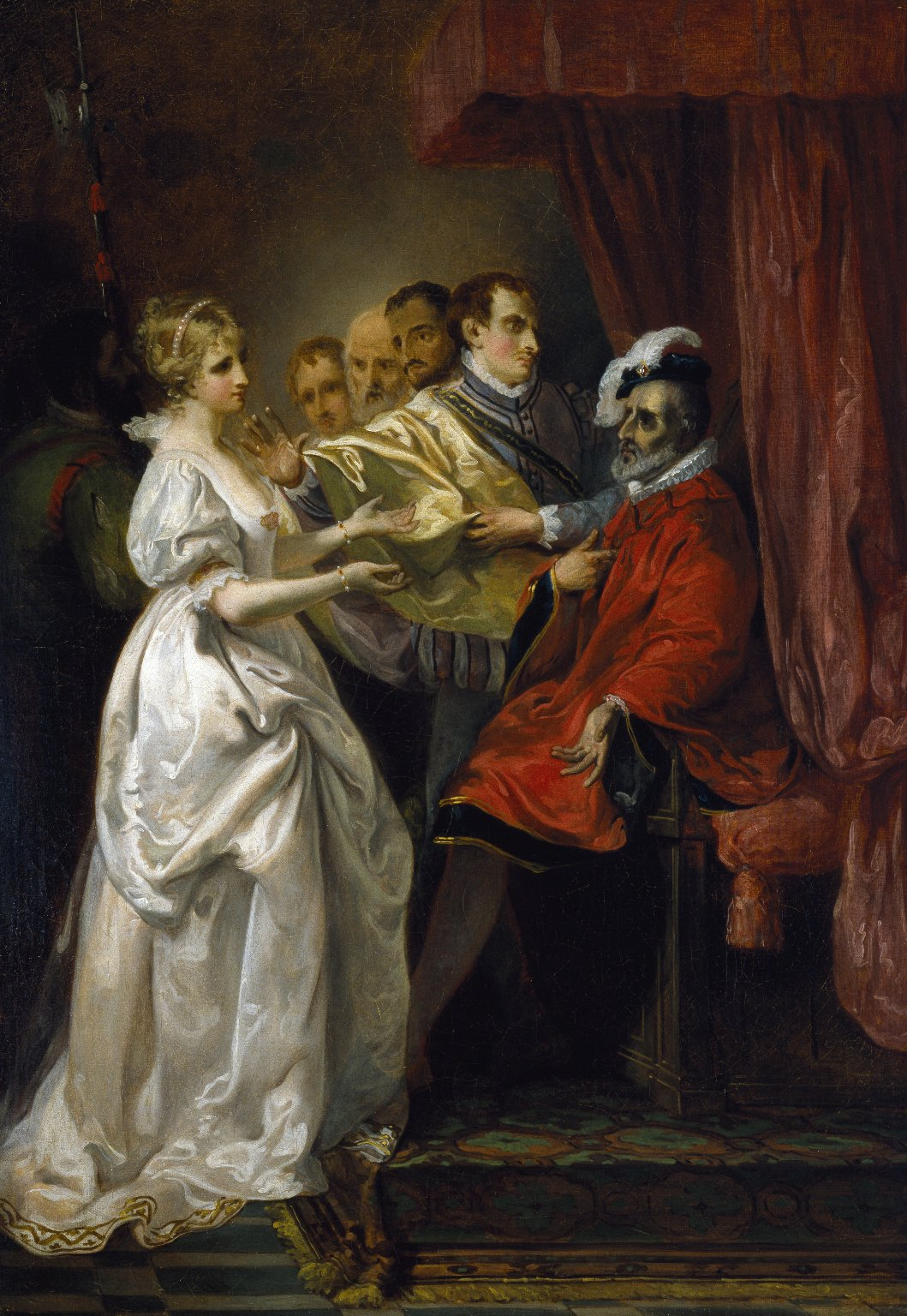 Helena and Count Bertram before the King of France