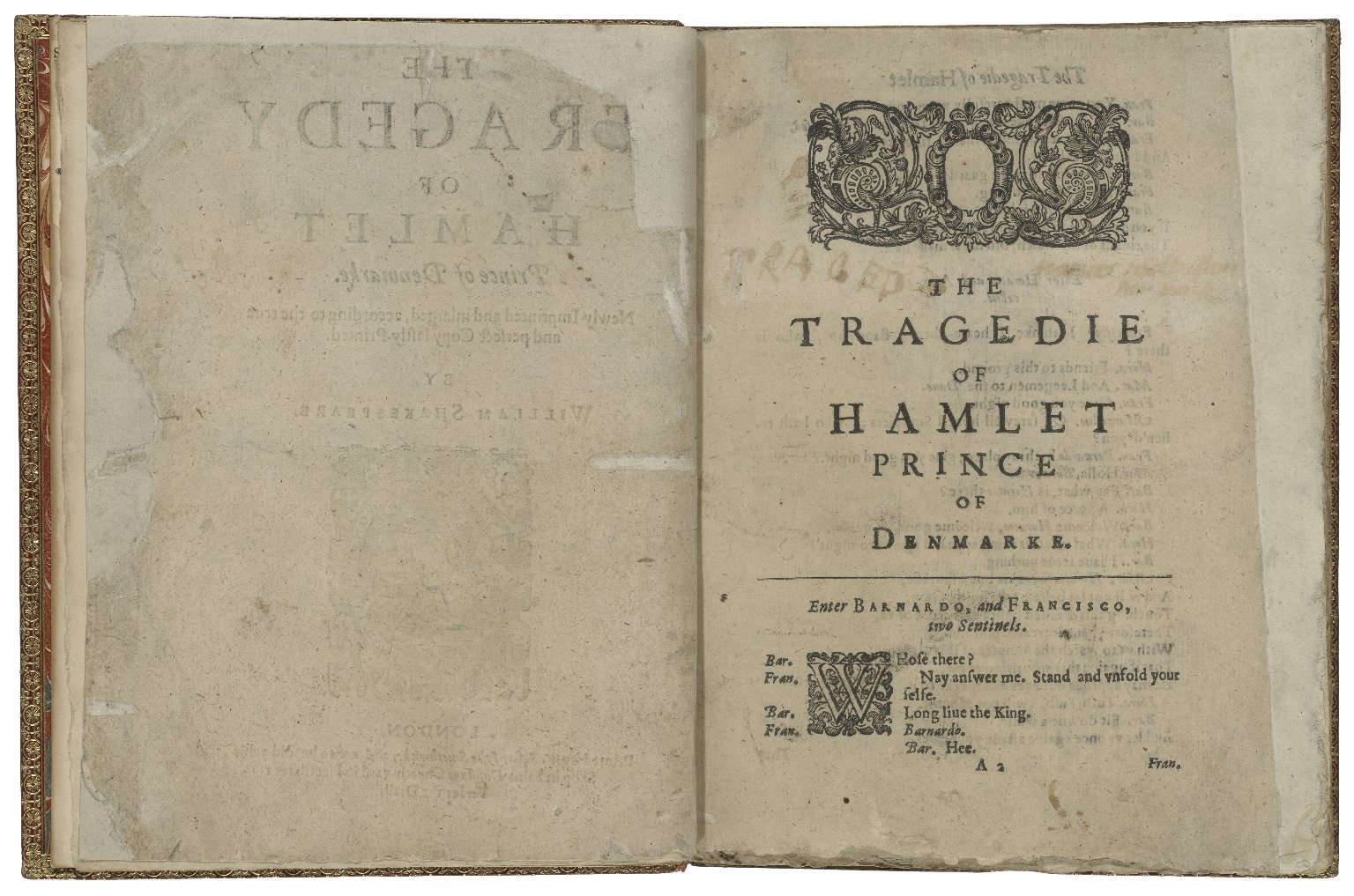 The tragedy of Hamlet Prince of Denmarke
