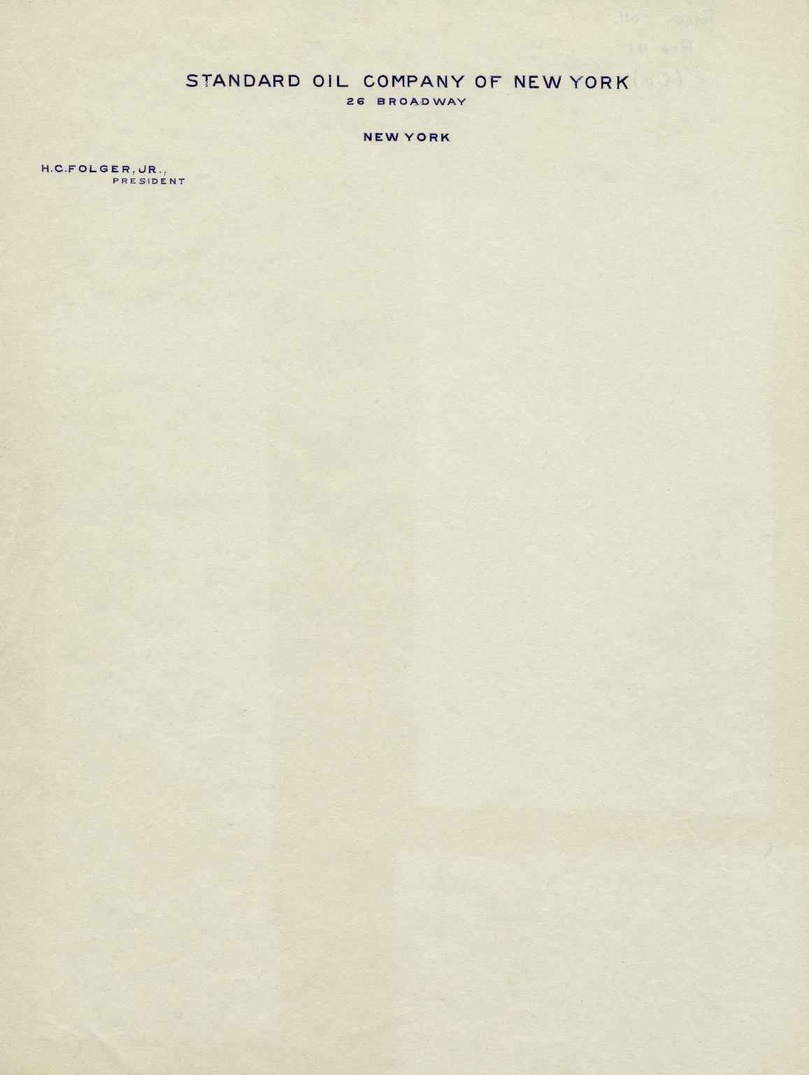 Standard Oil Company letterhead
