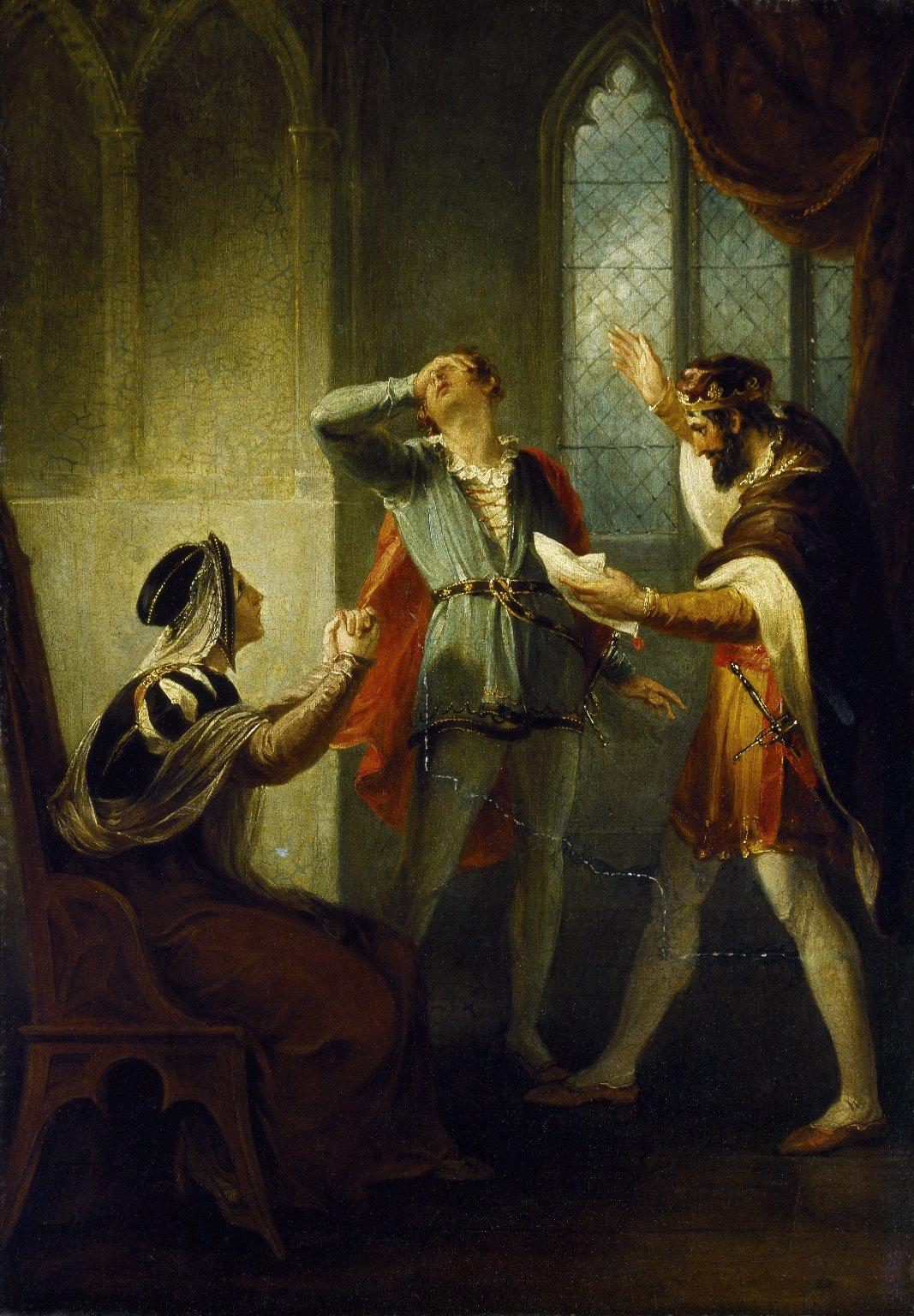 The Duke of York discovering his son Aumerle's treachery