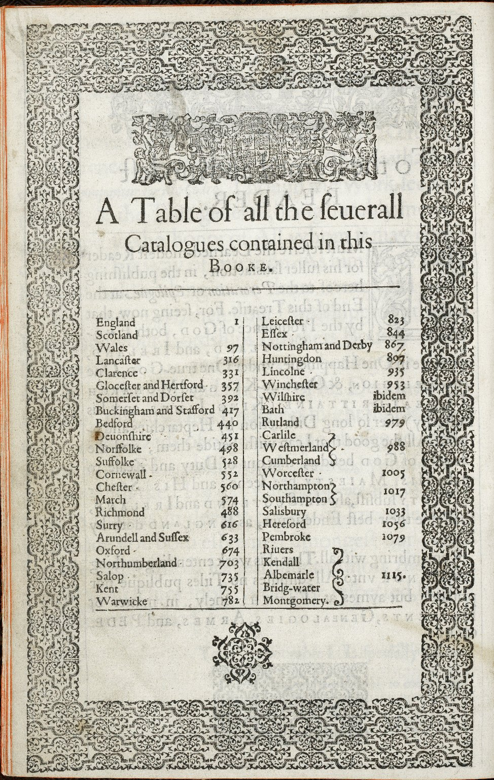 The catalogue of honor or Tresury of true nobility…