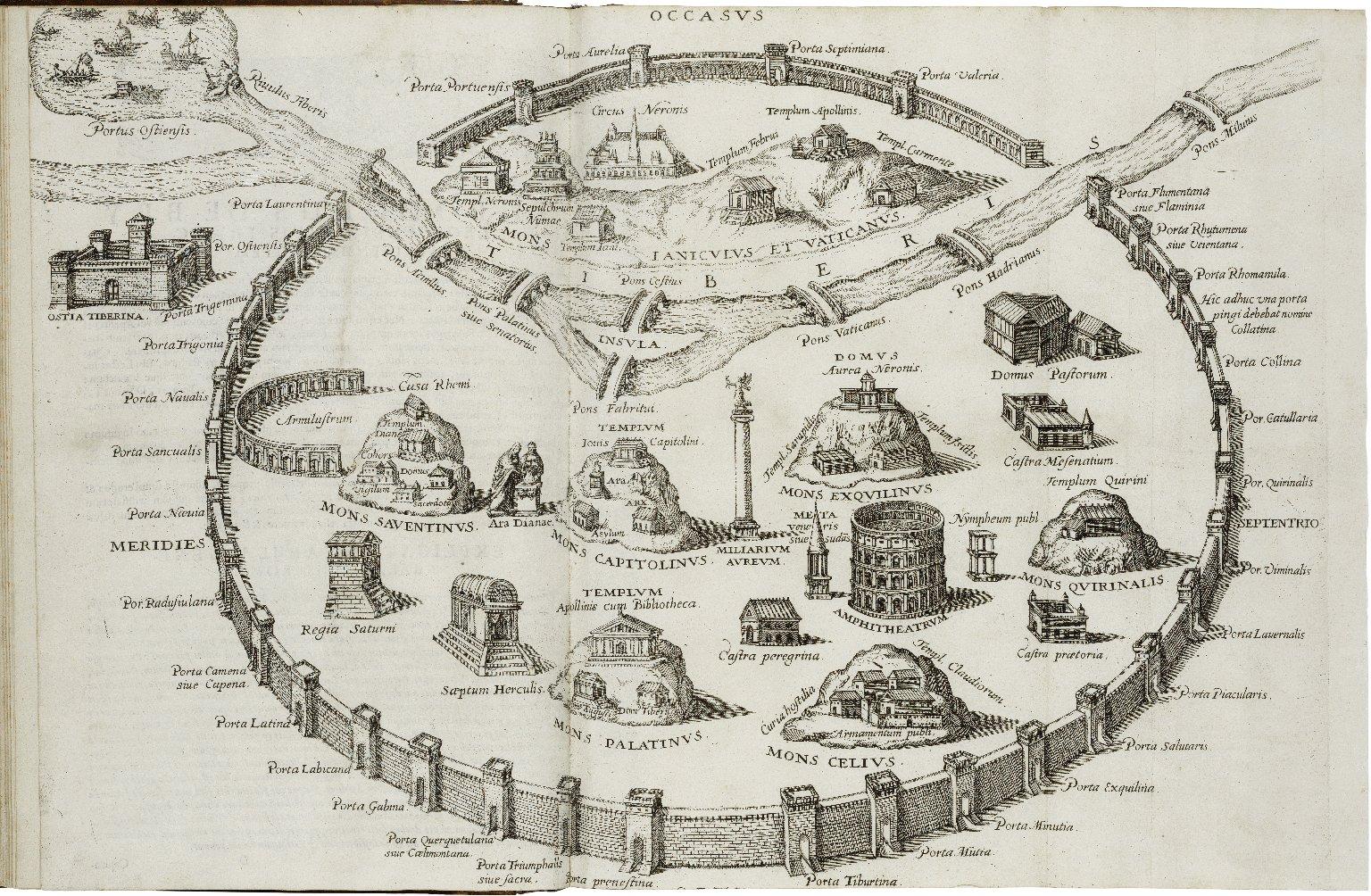 Onvphri Panulnii … Topographia Romae…