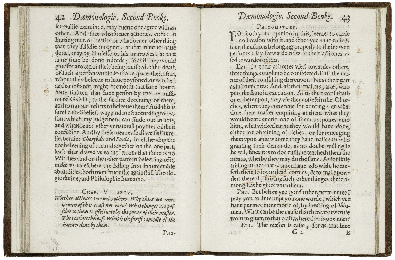 Daemonologie, in forme of a dialogue, diuided into three bookes.