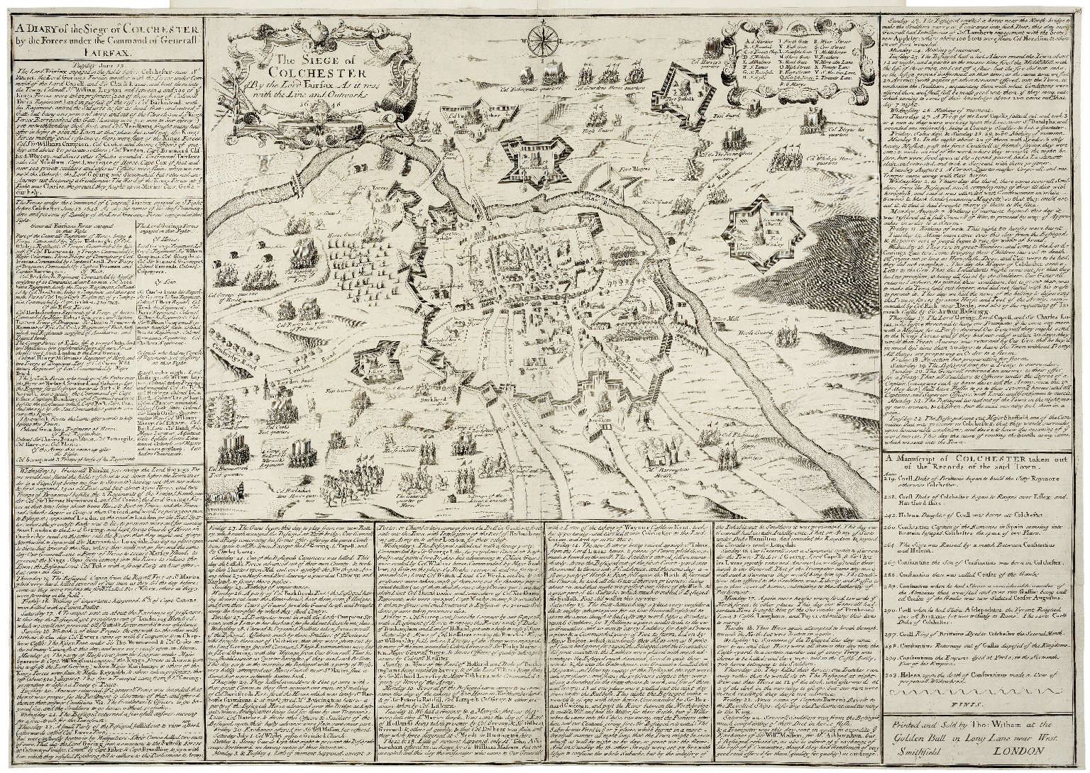 A diary of the siege of Colchester by the forces under the command of Generall Fairfax.