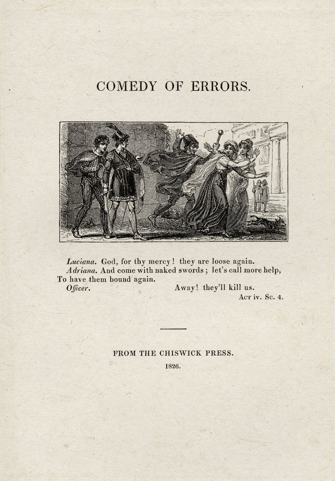 Comedy of Errors Act 4, Scene 4
