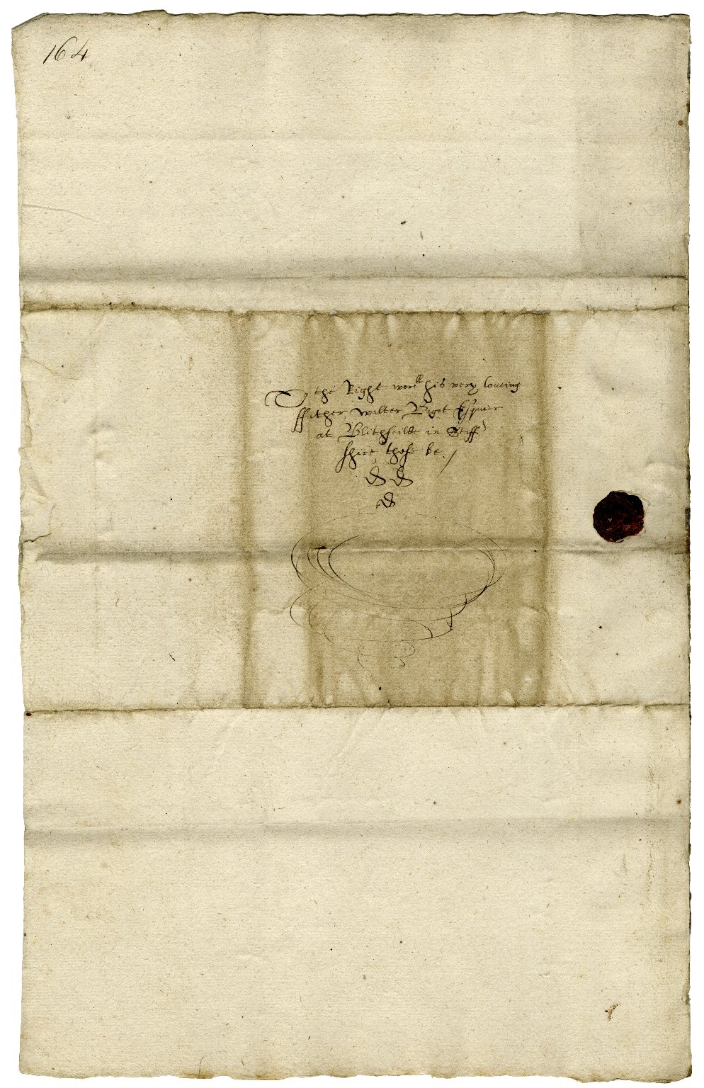Letter from William Bagot (Walter's son), Oxford, to Walter Bagot