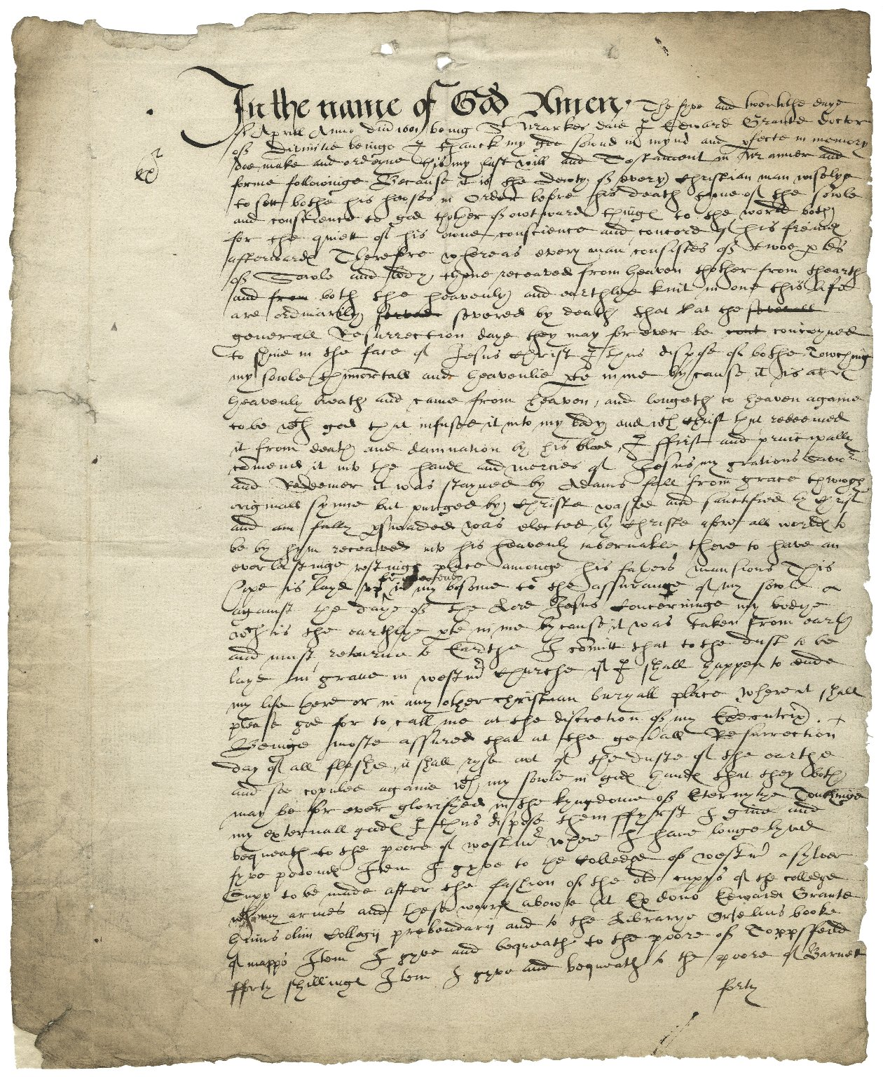 Will of Edward Grant
