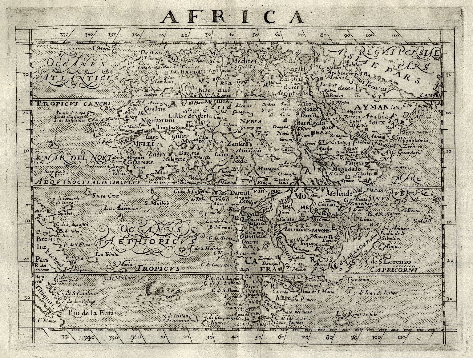 A geographical historie of Africa, written in Arabicke and Italian by Iohn Leo a More, borne in Granada, and brought vp in Barbarie.