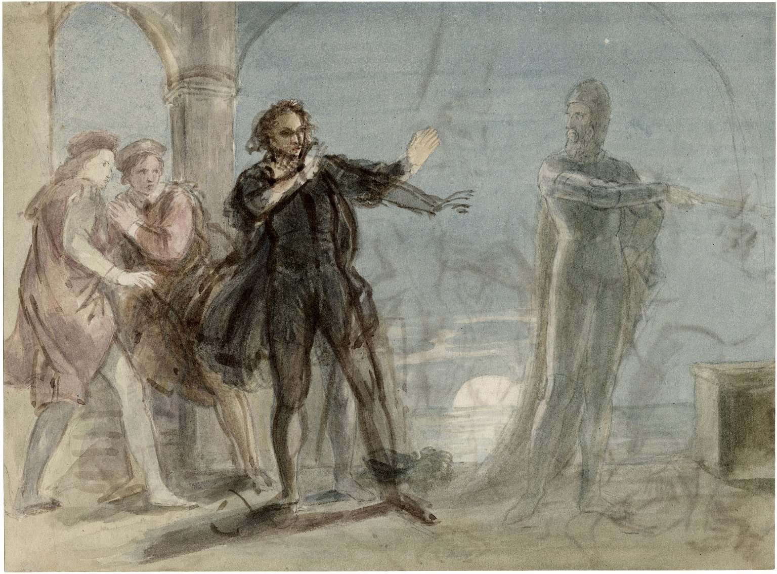 [Rough drawings (large) for scenes from Shakespeare] [graphic] / [John Wright].