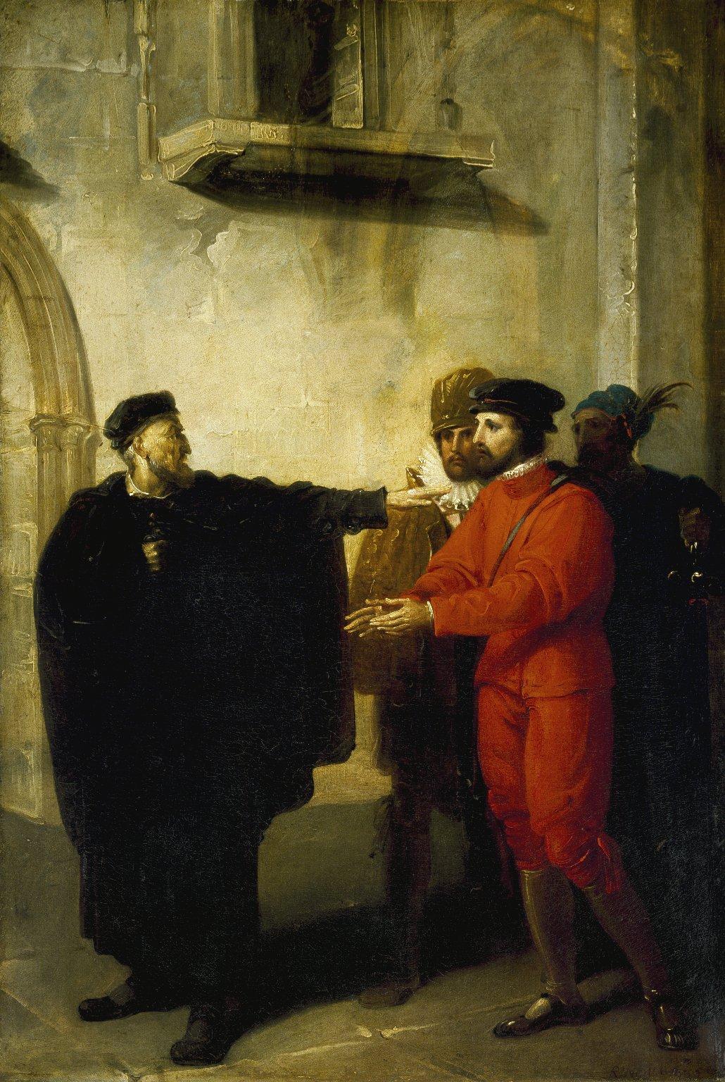 Shylock Rebuffing Antonio