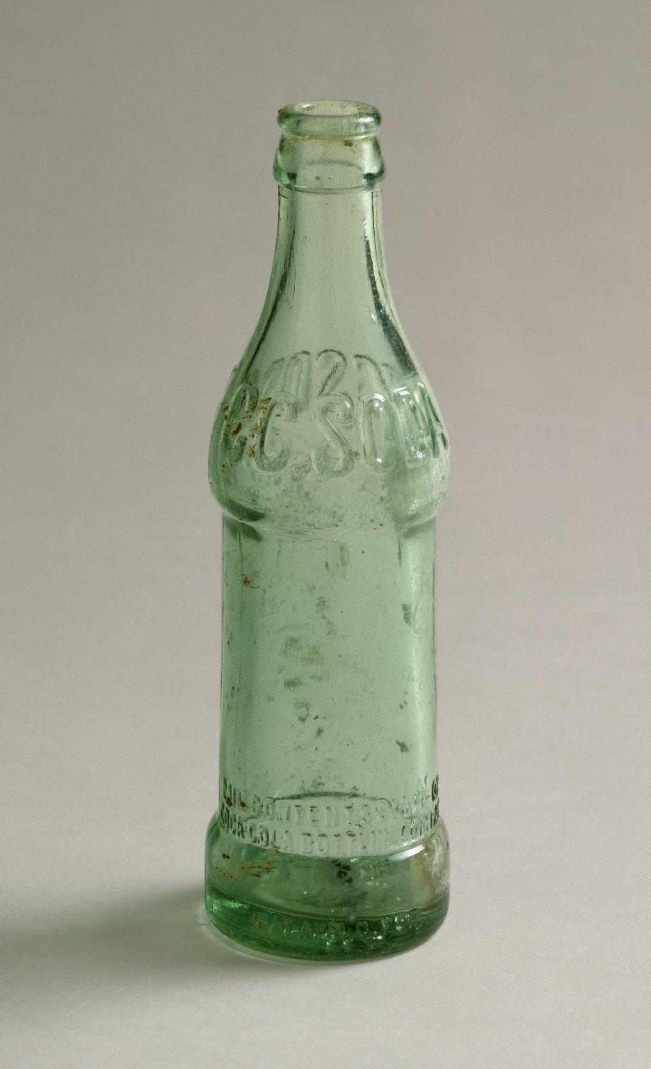 Soda bottle left by workmen on Folger site.