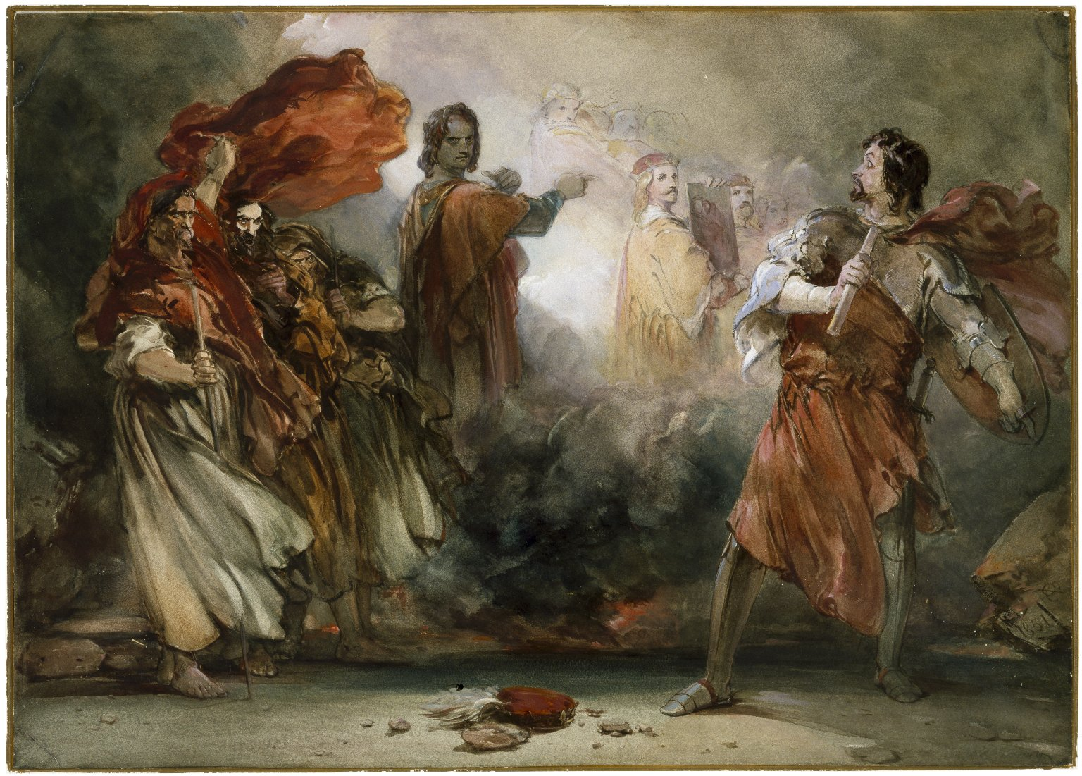 [Macbeth, Banquo, and the witches]