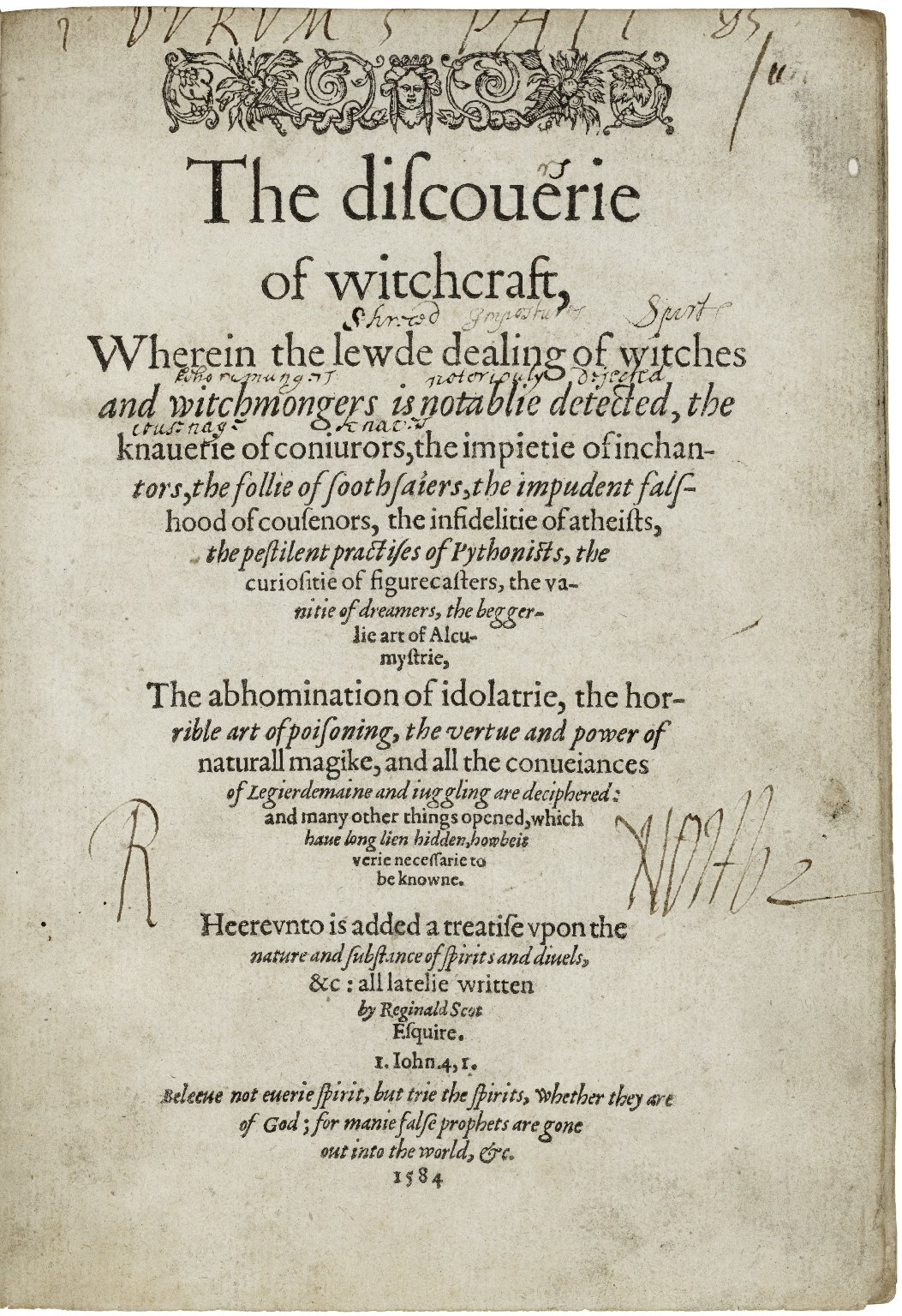 The discouerie of witchcraft...