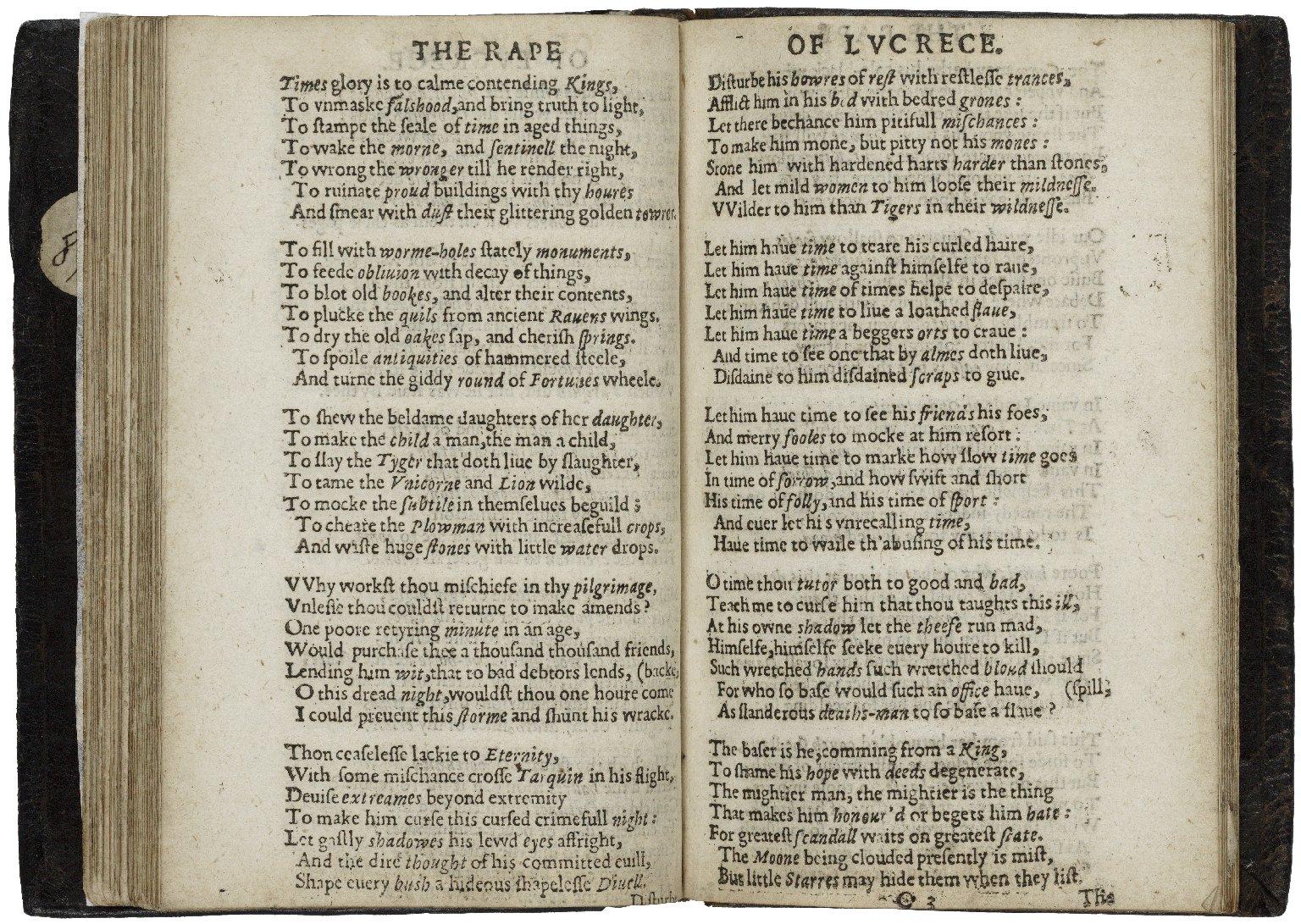The rape of Lucrece.
