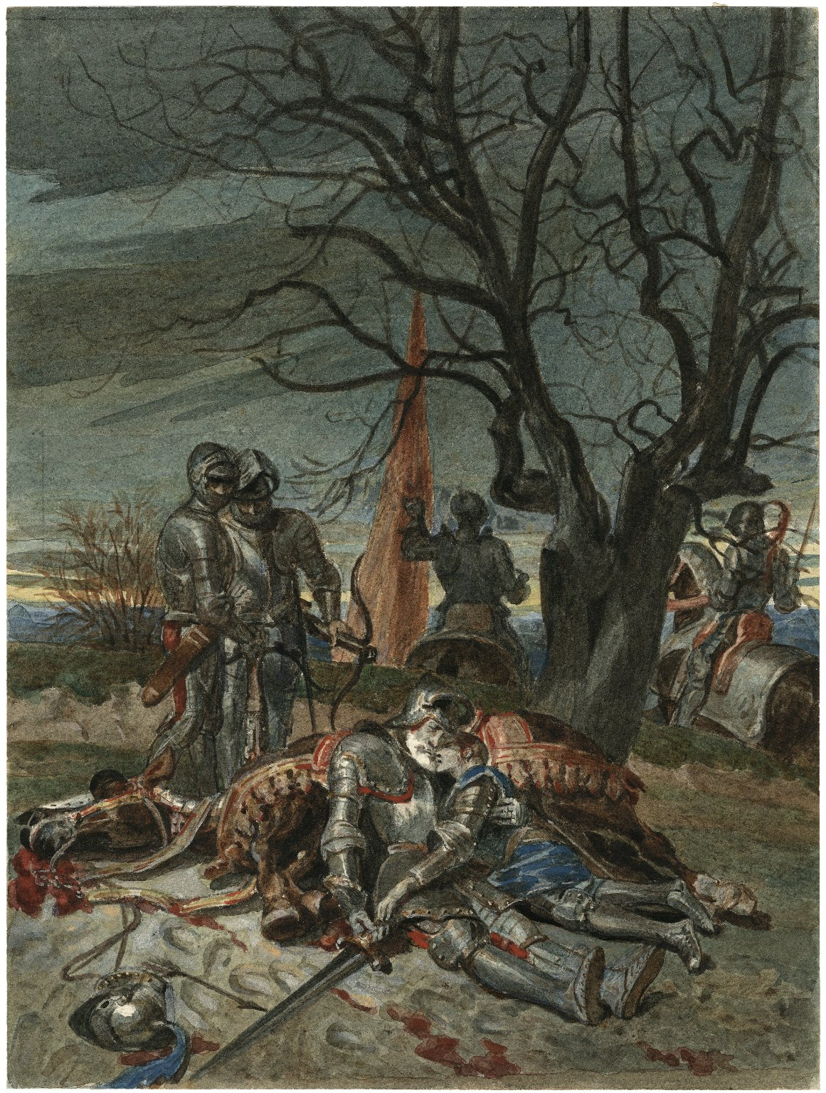 [Henry VI, Pt. 1, IV, 7, The death of Lord Talbot and his son, John] [graphic] / [Alexandre Bida].