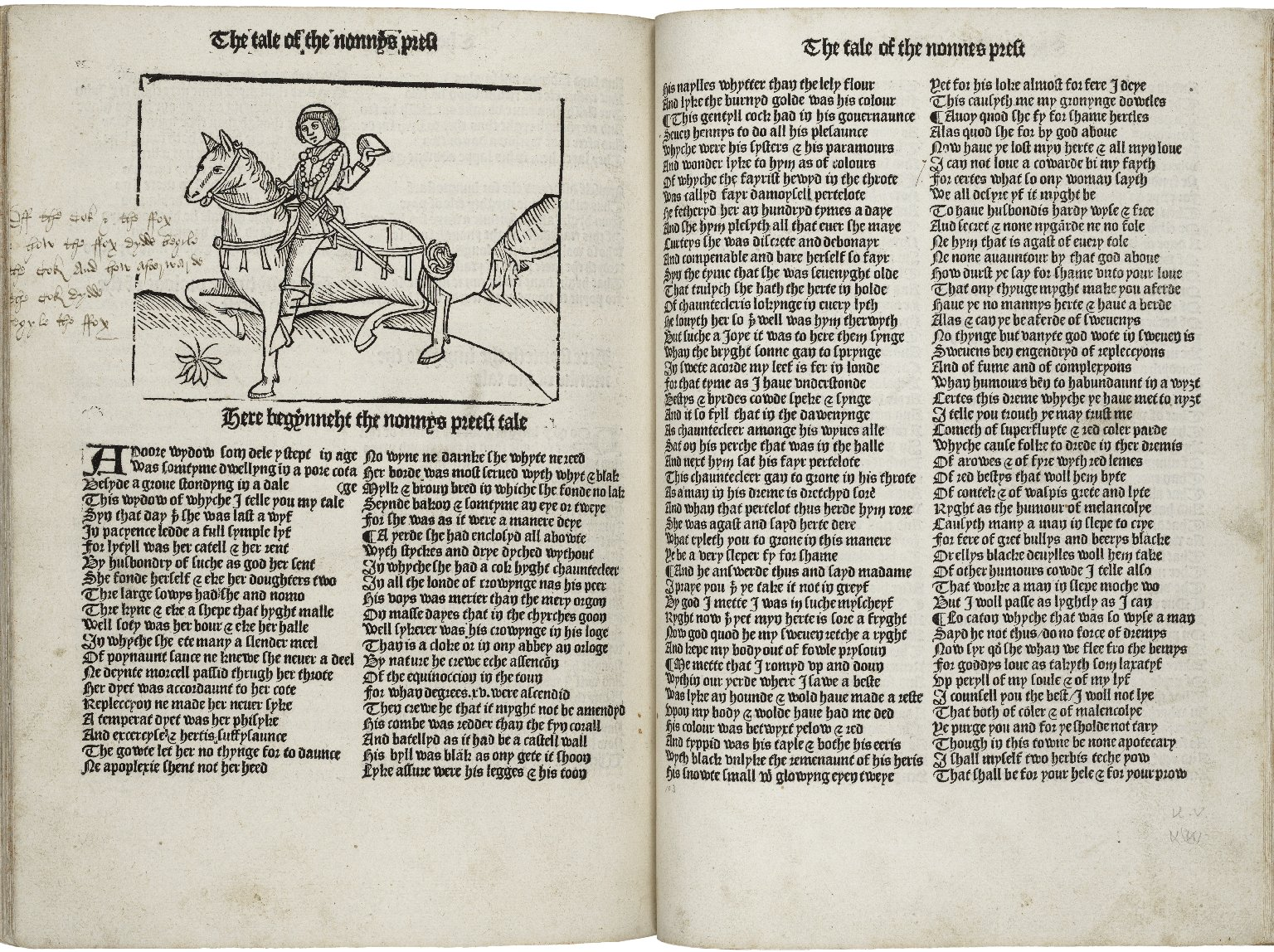 [Canterbury tales] The boke of Chaucer named Caunterbury tales.