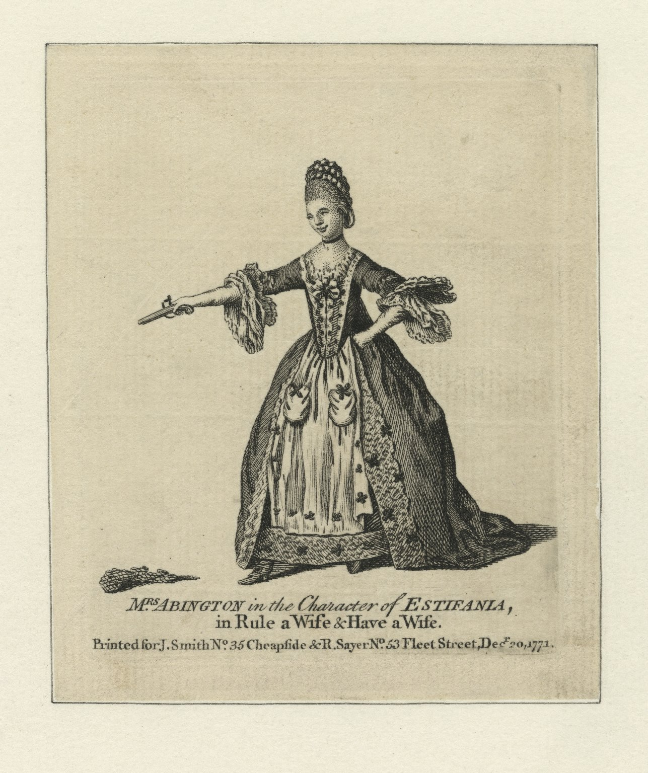 Mrs. Abington in the character of Estifania [graphic].