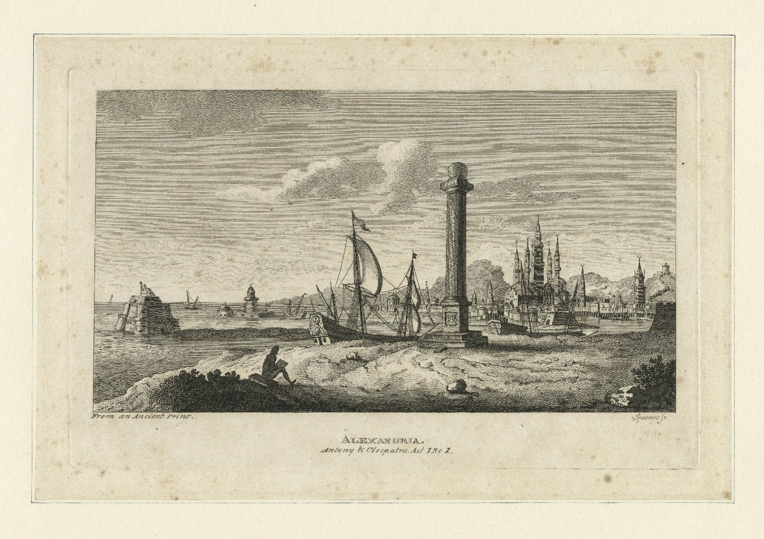 Alexandria [Egypt], Antony & Cleopatra, act 1, sc. 1 [graphic] / Sparrow, sc.