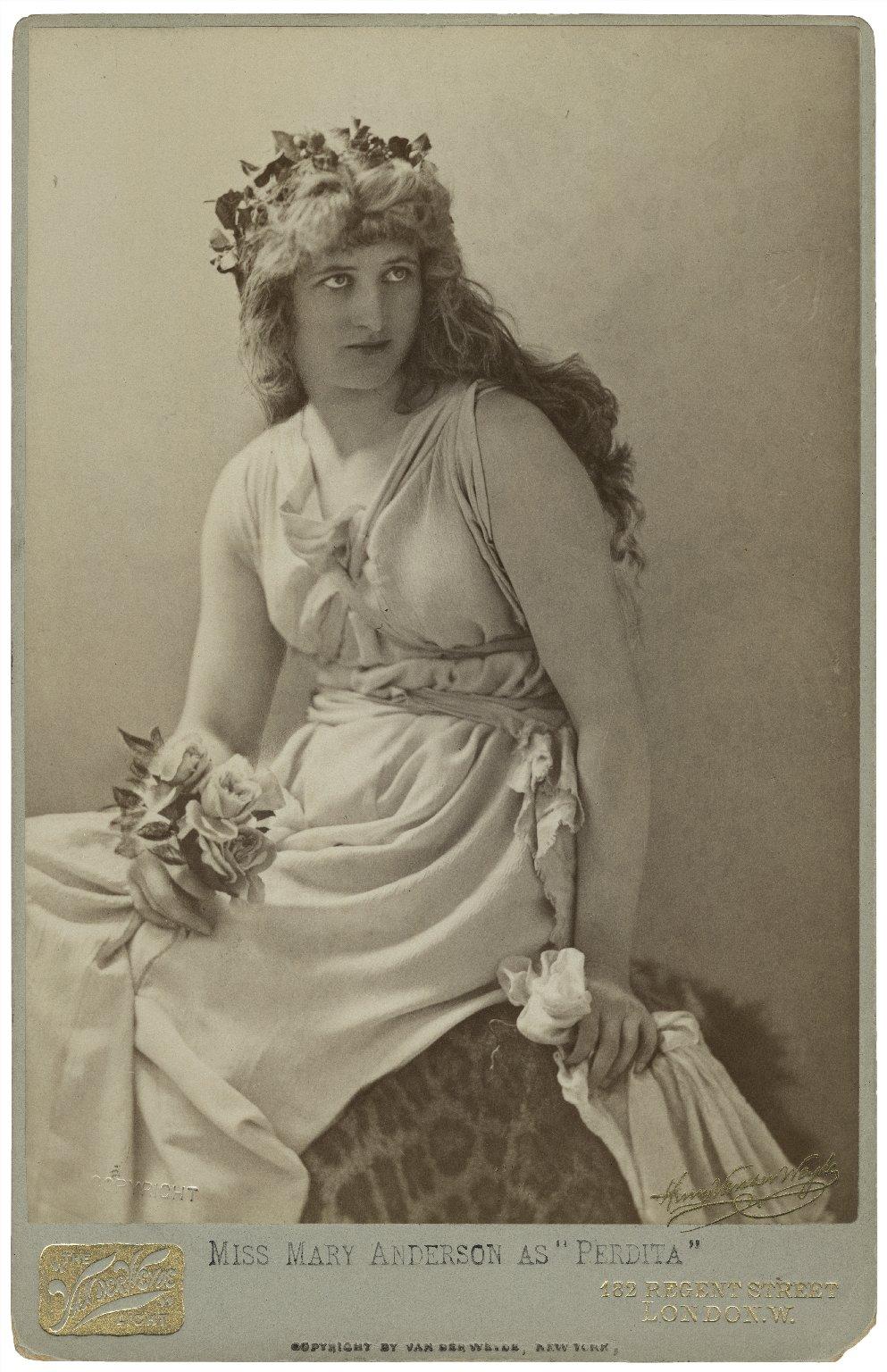 Miss Mary Anderson as Perdita [graphic] / Henry van der Weyde.