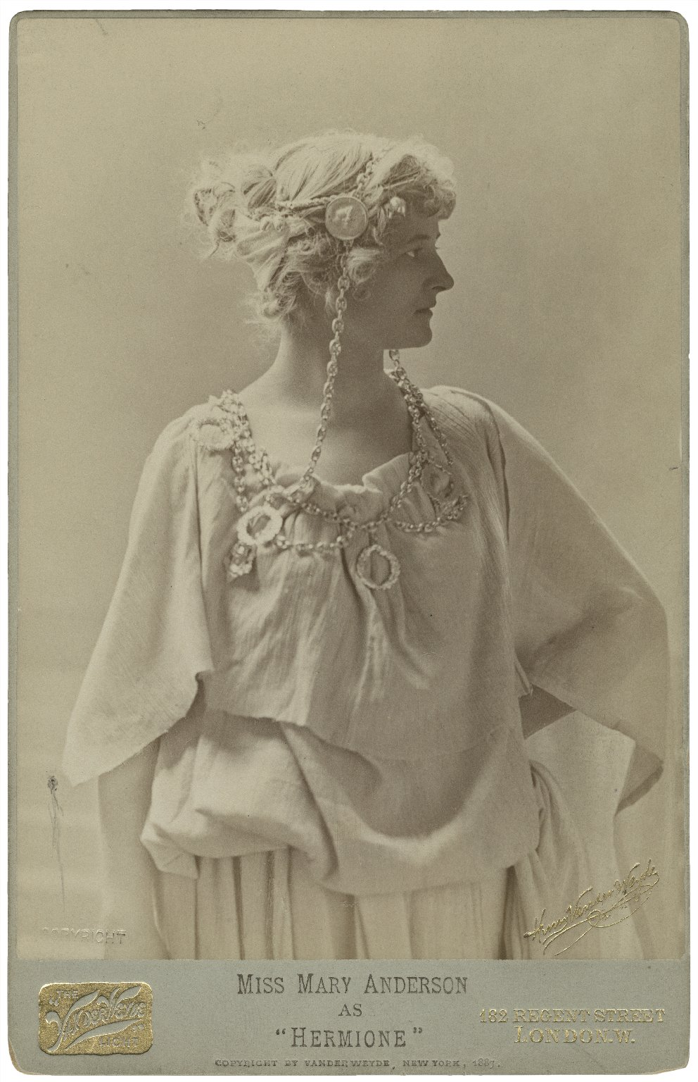 Miss Mary Anderson as Hermione [graphic] / Henry van der Weyde.