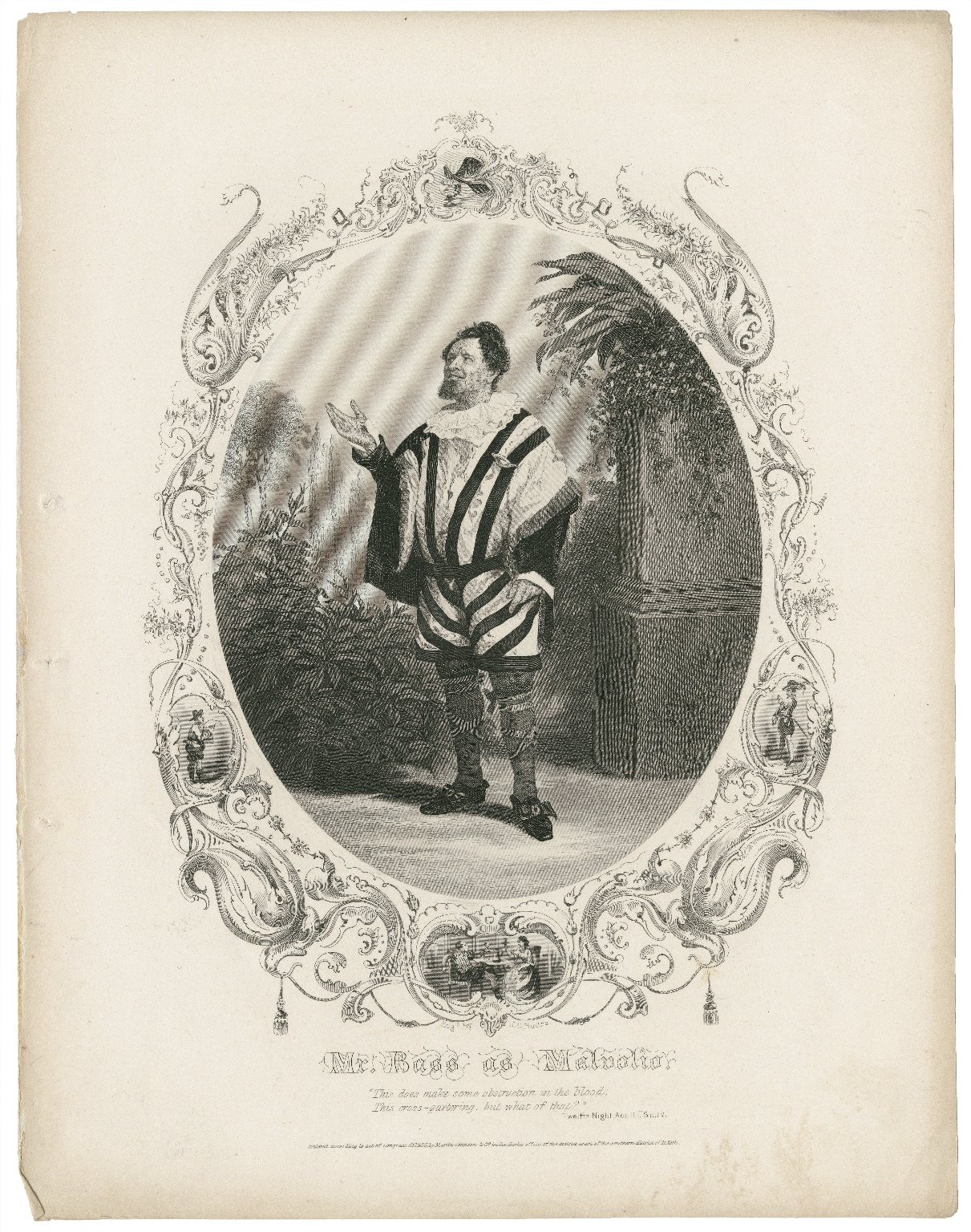 Mr. Bass as Malvolio ... [graphic] / eng'd by J.C. Buttre.