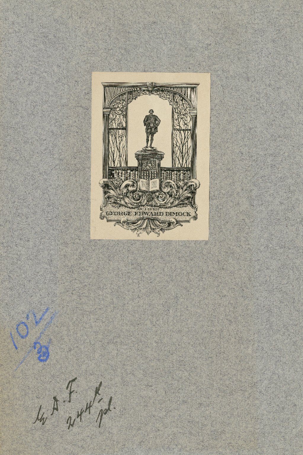 Ex libris George Edward Dimock [graphic].