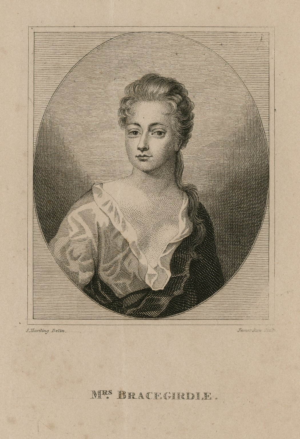 Mrs. Bracegirdle [graphic] / S. Harding, delin. ; James Stow, sculp.