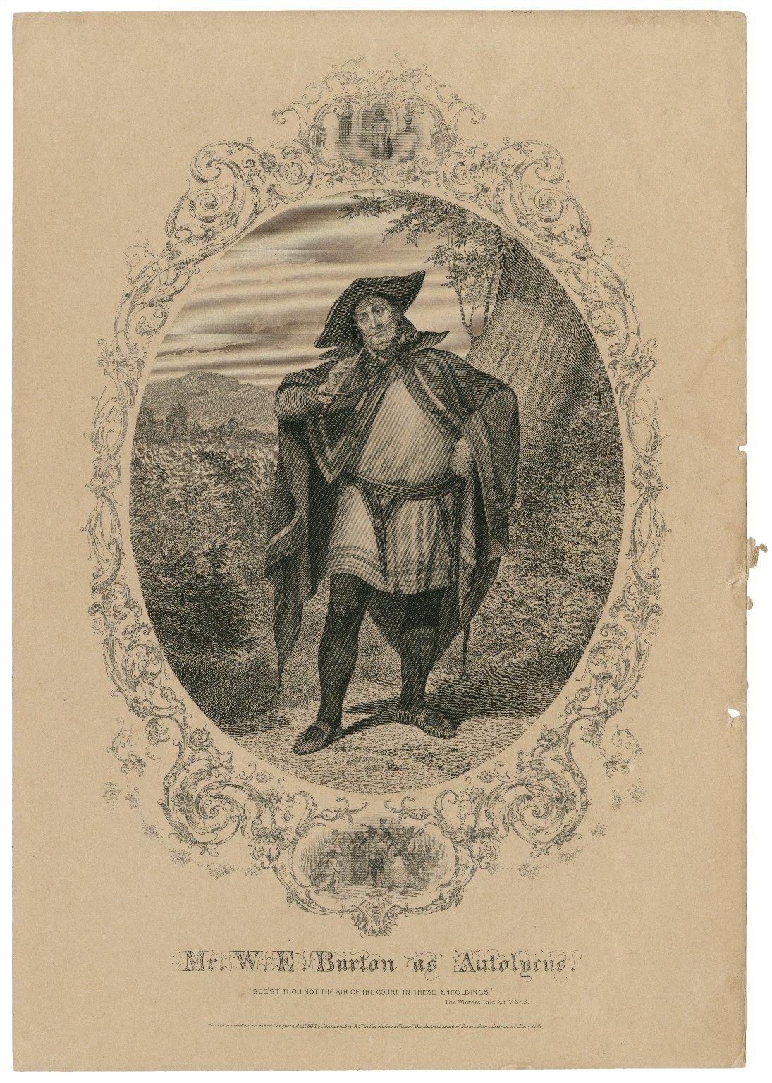 Mr. W.E. Burton as Autolycus [in Shakespeare's Winter's tale] [graphic].