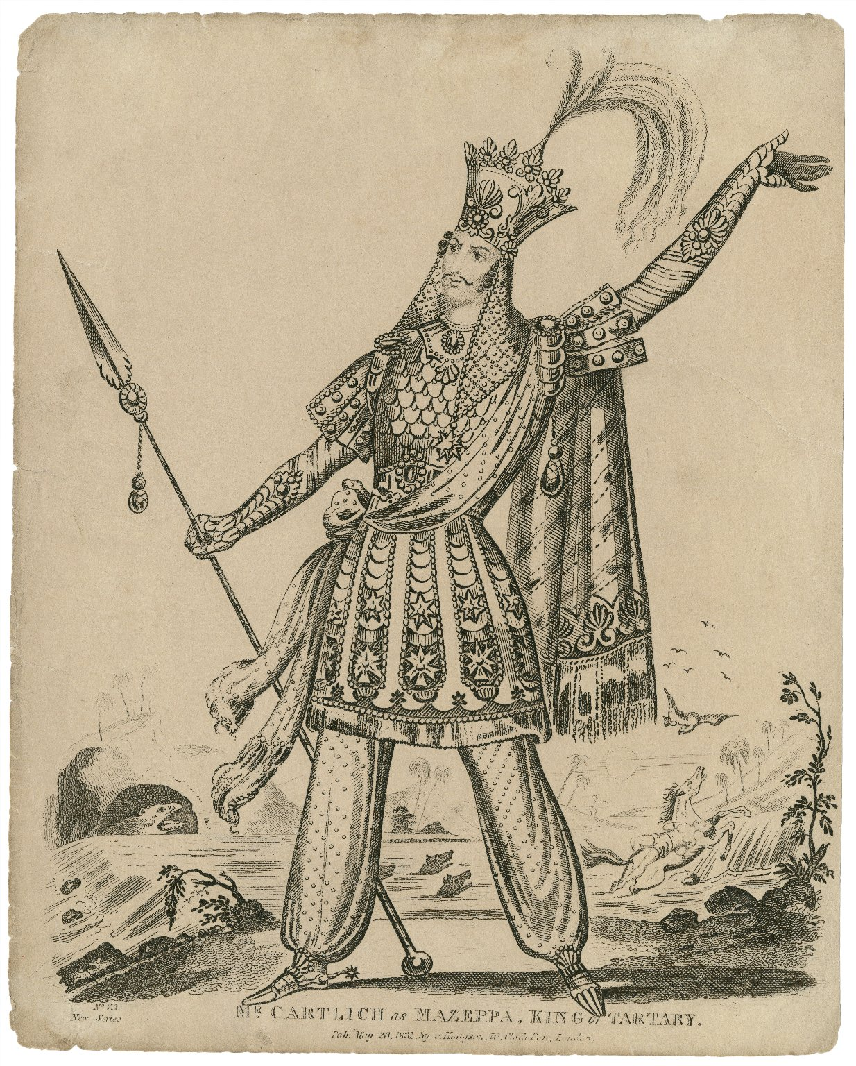 Mr. Cartlich as Mazeppa, King of Tartary [in H.M. Milner's adaptation of Byron's poem, Mazeppa] [graphic].