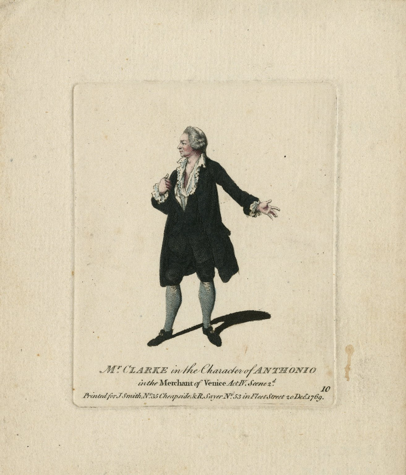 Mr. Clarke in the character of Anthonio in the Merchant of Venice [graphic].