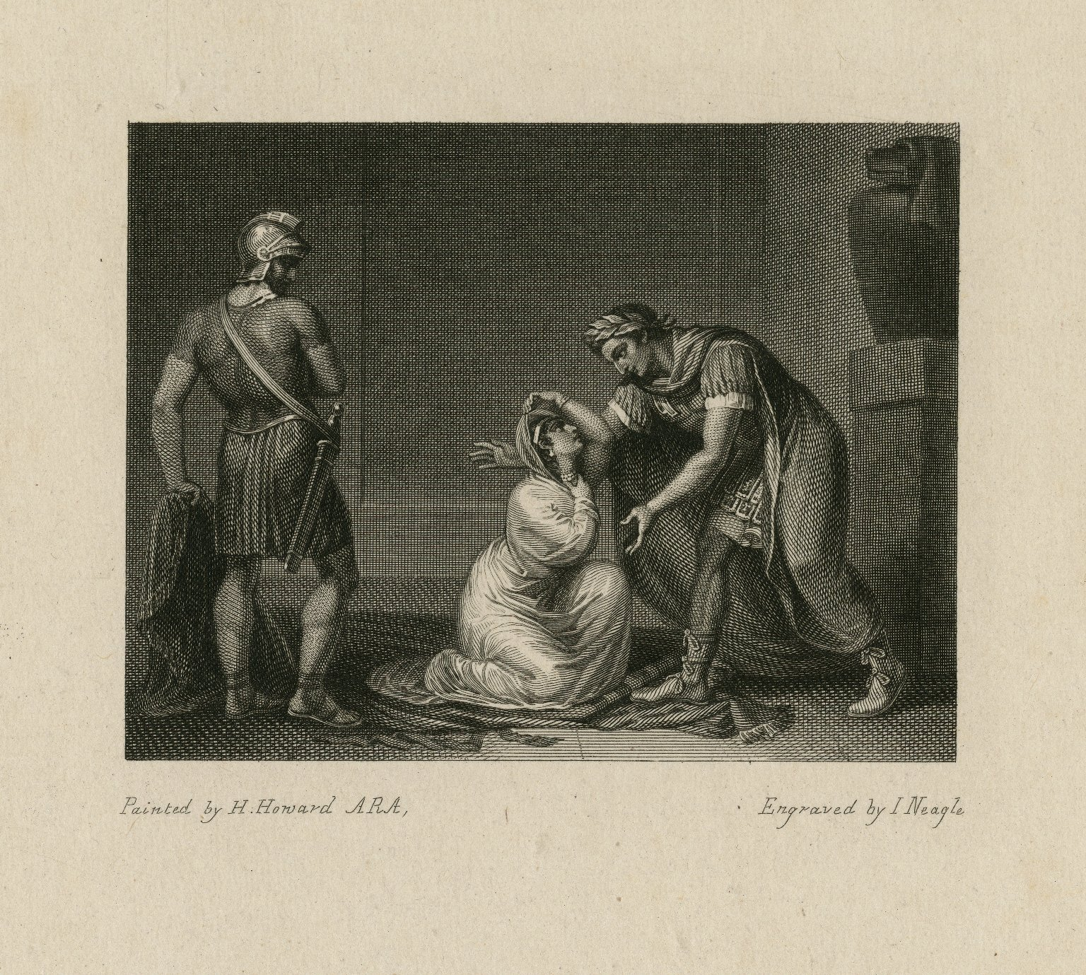 [Cleopatra before Caesar] [graphic] / painted by H. Howard ARA ; engraved by I. Neagle.