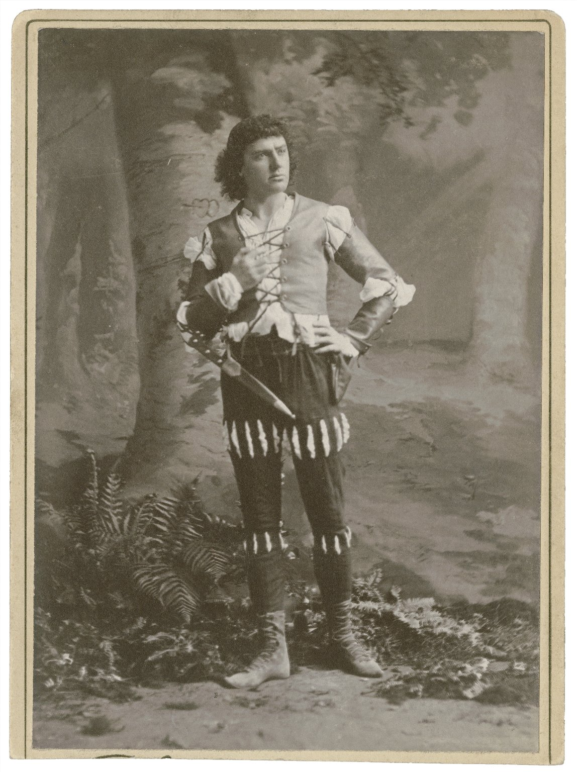 Charles Coghlan as Orlando [in Shakespeare's As you like it] [graphic] / [Charles L. Ritzmann]