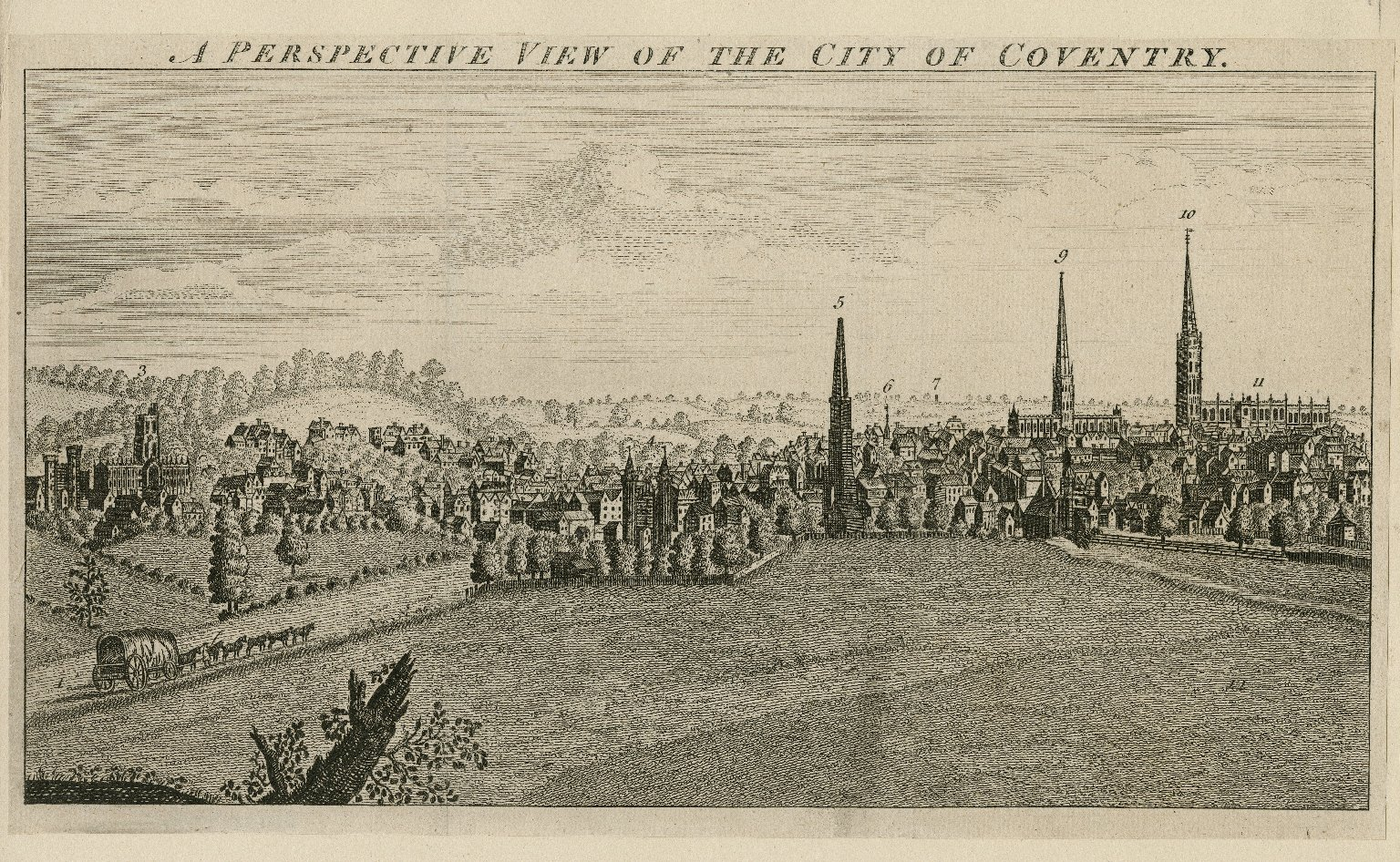 A perspective view of the city of Coventry [graphic].