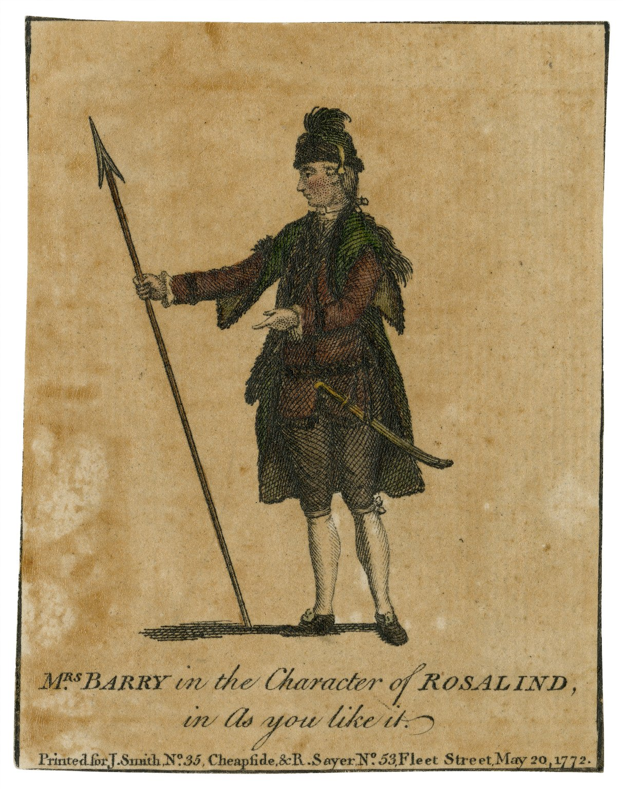 Mrs. Barry in the character of Rosalind in As you like it [graphic].