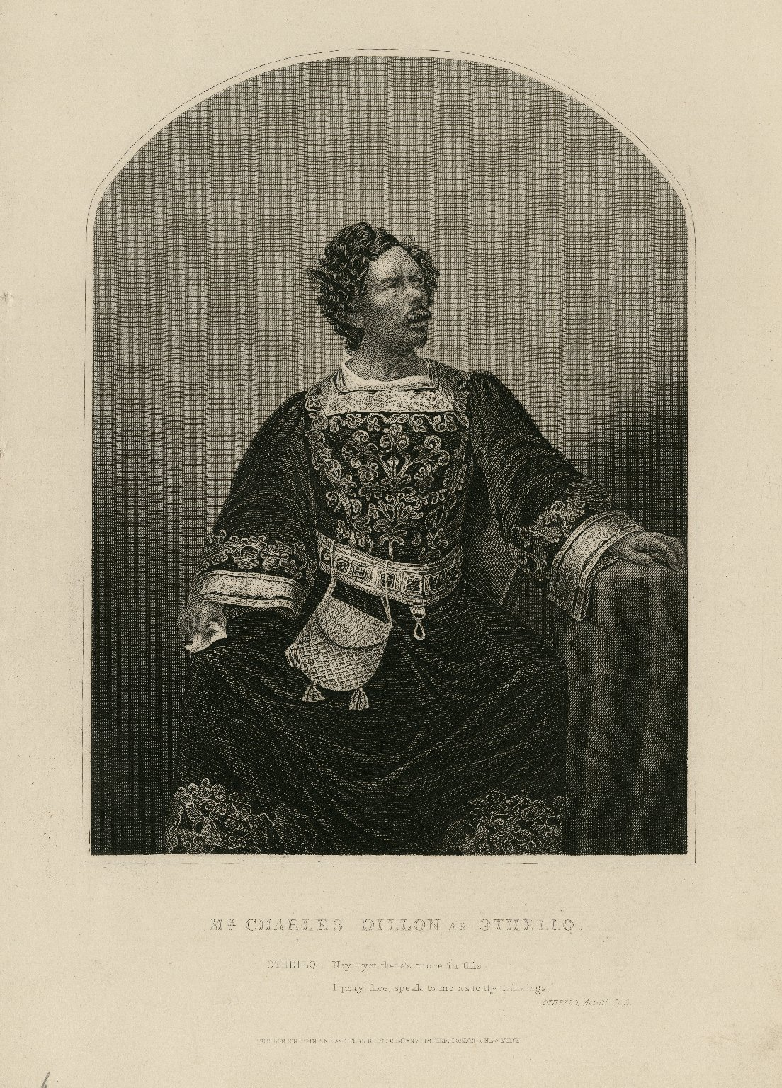 Mr. Charles Dillon as Othello [in Shakespeare's Othello] [graphic].