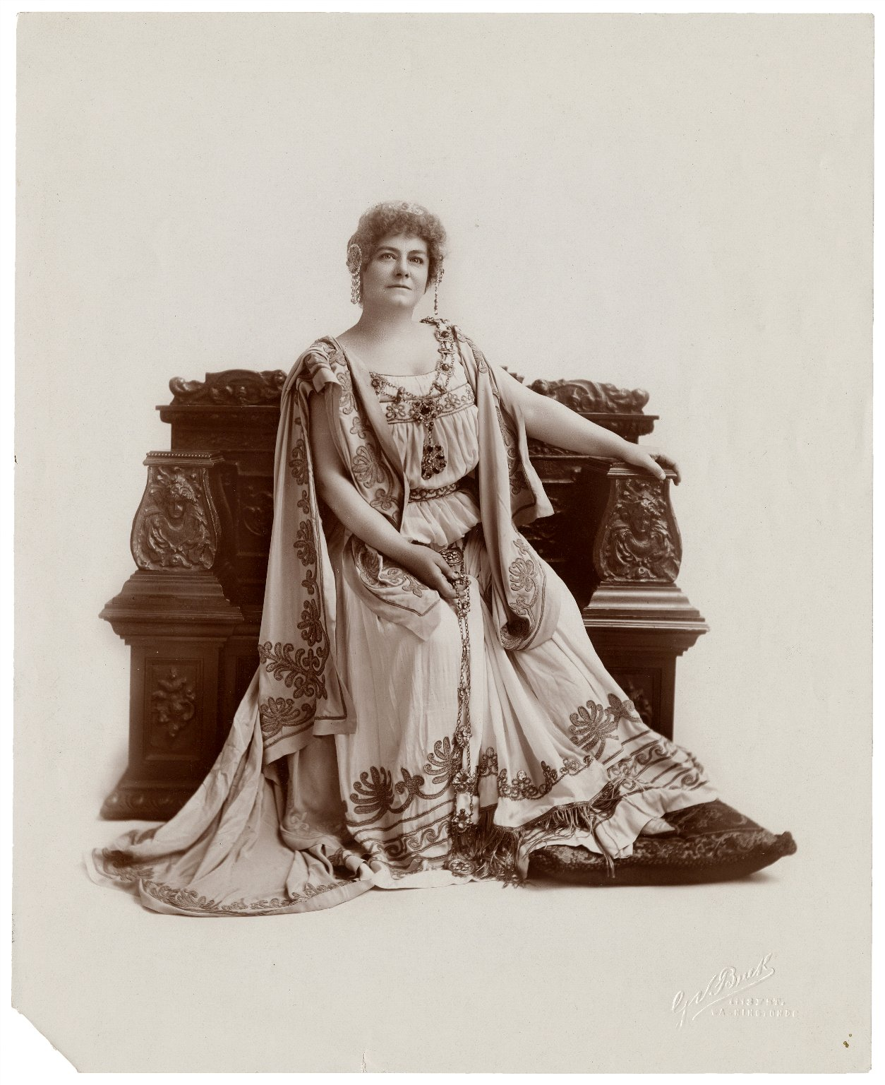Marie Drofnah as Hermione [in Shakespeare's Winter's tale] [graphic] / G.V. Buck.