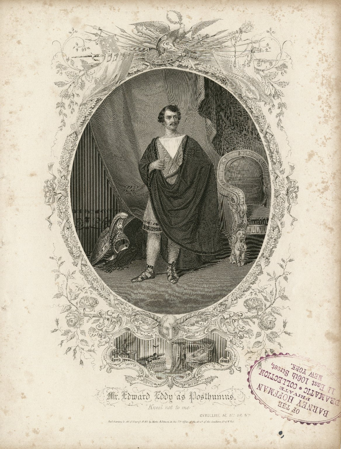 Mr. Edward Eddy as Posthumus [in Shakespeare's Cymbeline] [graphic].