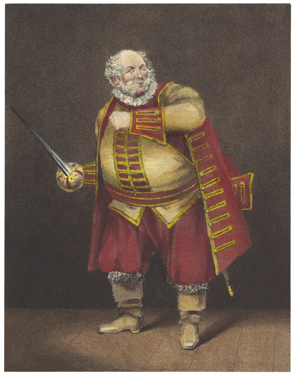 Mr. Elliston as Sir John Falstaff [in pt. 1 of Shakespeare's] Henry IV act 2 scene IV ... [graphic] / drawn & engraved from life by John William Gear.