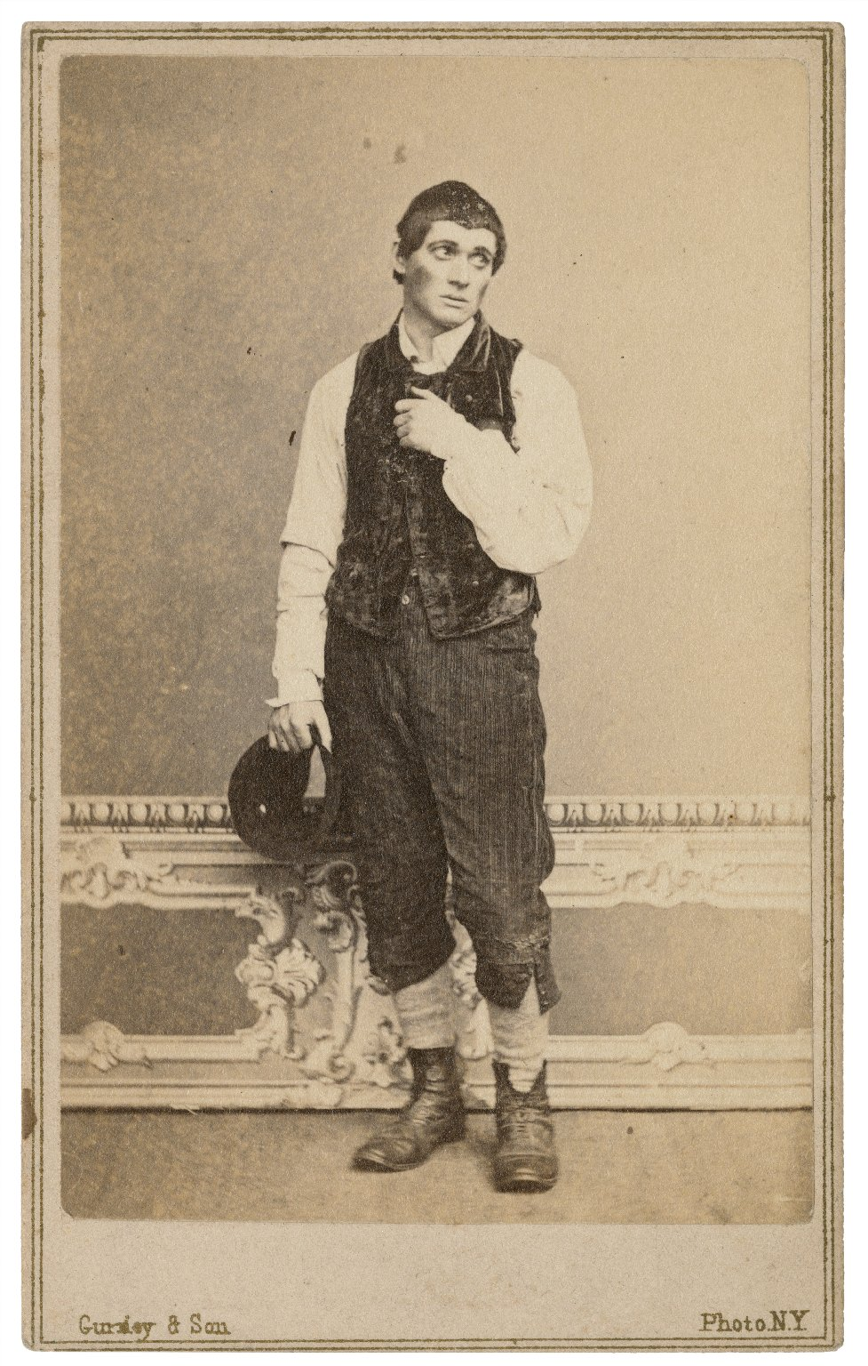 Geo. H. Gilbert [in theatrical costume] [graphic] / Gurney & Son, photo.