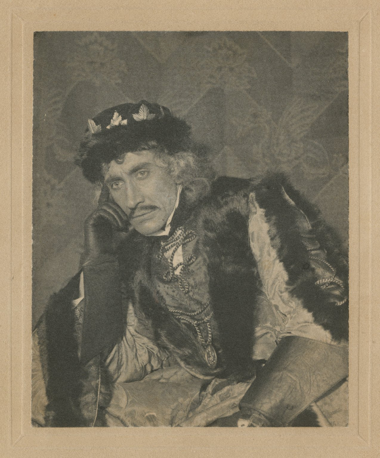 """Sidney Herbert as Duke Frederic in """"As you like it"""" [by Shakespeare] 1896 (Augustin Daly's company, Rehan as Rosalind, etc.) [graphic]."""