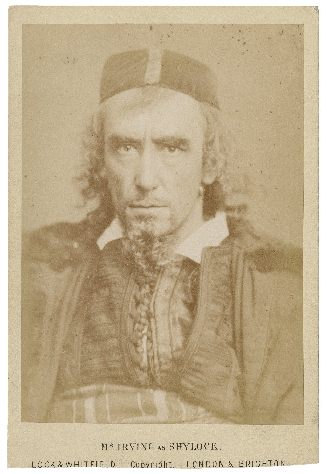Mr. Irving as Shylock [in Shakespeare's Merchant of Venice] [graphic] / Lock & Whitfield, copyright.