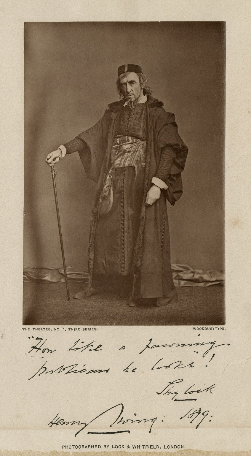 Henry Irving [as Shylock in Shakespeare's Merchant of Venice] [graphic] / photographed by Lock & Whitfield.