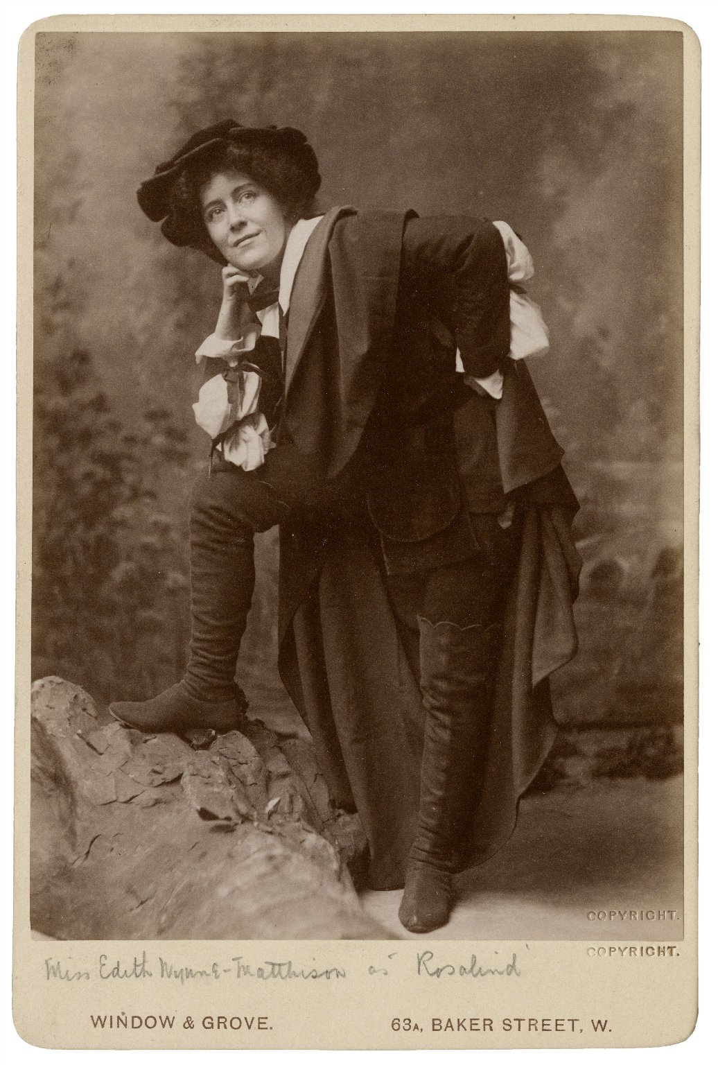 Miss Edith Wynne Matthison as Rosalind [in Shakespeare's As you like it] [graphic] / Window & Grove.