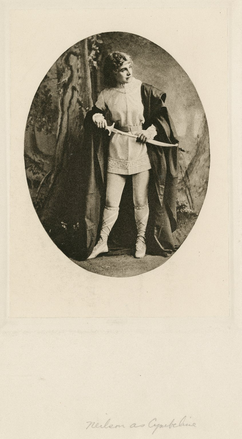 [Two photographs of Adelaide Neilson as Imogen in Shakespeare's Cymbeline] [graphic] / Sarony.
