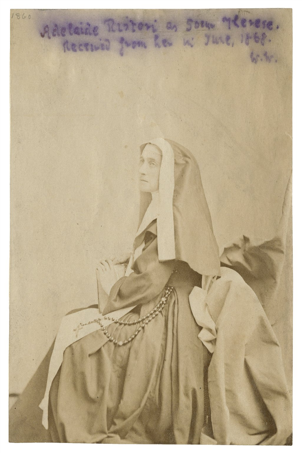 Adelaide Ristori as Soeur Therese [graphic].