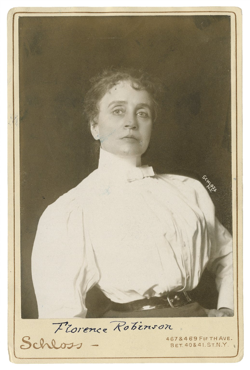 Florence Robinson [graphic] / Schloss, N.Y.
