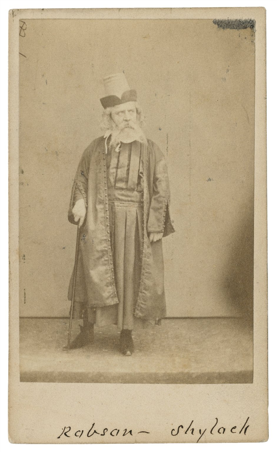 [Robson as burlesque Shylock in Francis Talfourd's Shylock; or the Merchant of Venice preserved, Olympic Theatre, London, 1853] [graphic].
