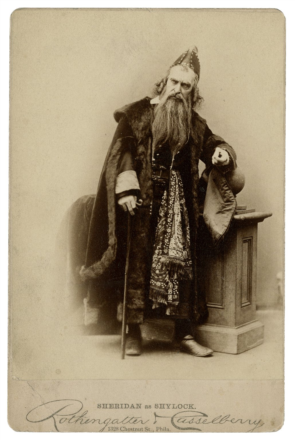 Sheridan as Shylock [in Shakespeare's Merchant of Venice] [graphic] / Rothengatter & Casselberry, 1328 Chestnut St., Phila.