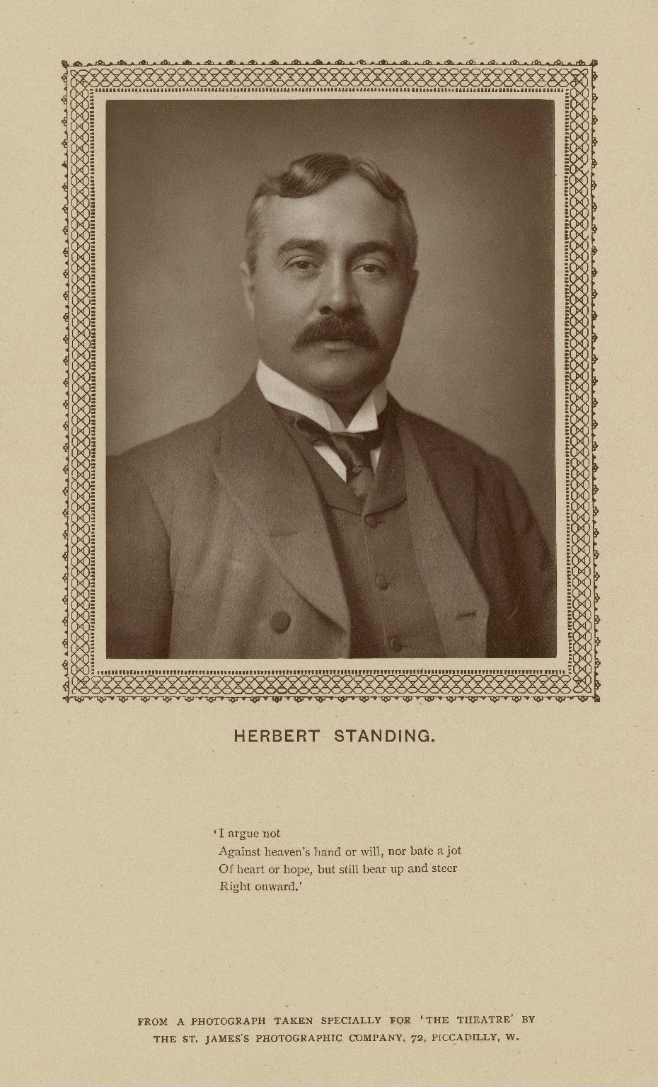 Herbert Standing [graphic] / from a photograph taken ... by the St. James's Photographic Company.