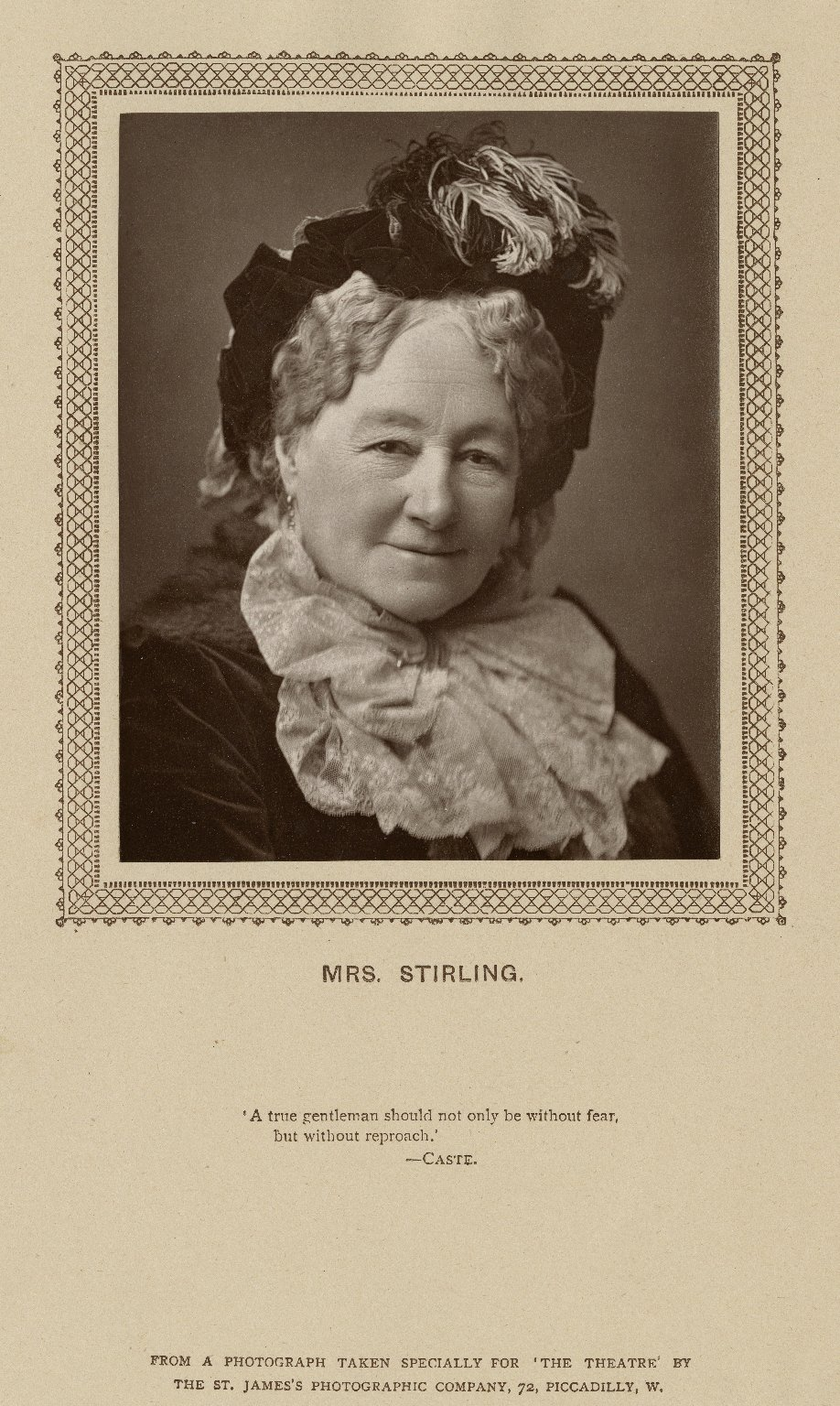 Mrs. Stirling [graphic] / from a photograph taken by ... the St. James's Photographic Company.
